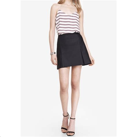 express express faux leather skirt mini pleated 4 from