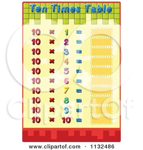 printable multiplication table without answers cartoon of a multiplication math eight times table without