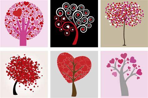 alberi cuori hearts trees vettoriali gratisit
