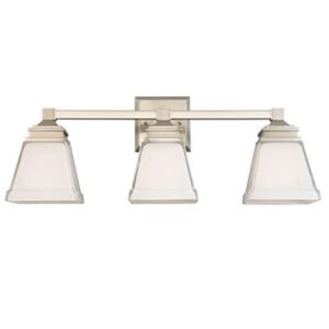 home depot bathroom lighting brushed nickel hton bay landray 3 light brushed nickel vanity light