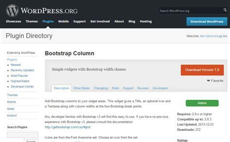 Wordpress Bootstrap Layout Plugin | a wordpress bootstrap plugin bootstrap column widget