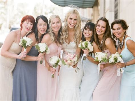Novel Bridesmaids mix and match bridesmaid dresses