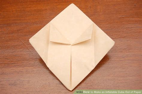 How To Make A Cube Out Of Paper Without Glue - how to make an cube out of paper 11 steps