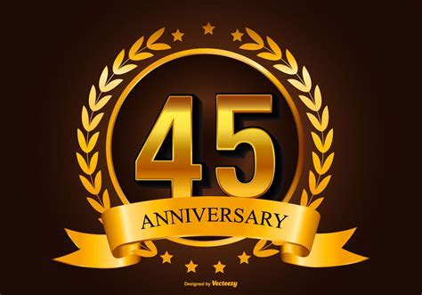 45th Anniversary Free Vector Art   (1295 Free Downloads)