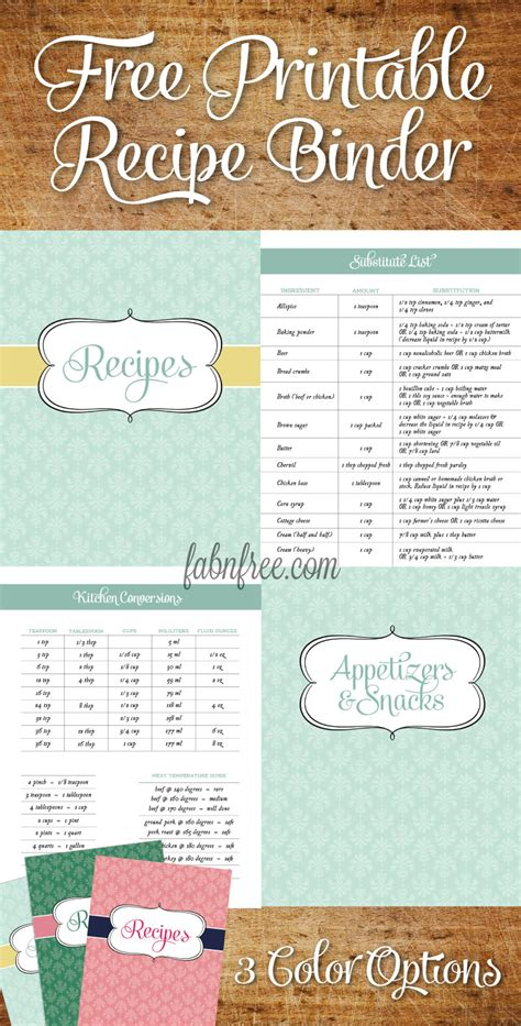 printable recipe book template recipe binder templates images
