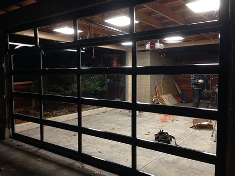 Clear Garage Doors by Oversized Aluminum Glass Clear Garage Door Installation In