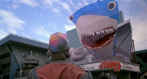 in back to the future part ii how could old biff have watch the jaws 19 trailer movienewz com