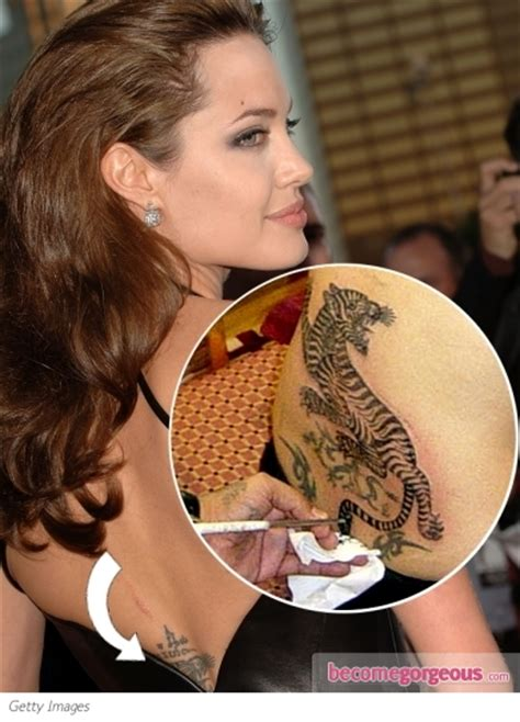 angelina jolie tiger tattoo pictures tattoos lower