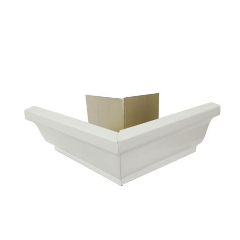 amerimax home products 5 in hi gloss white half