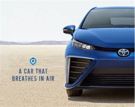 car ads 2016 toyota mirai fuel cell car s ad agency should study engine