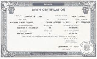 notarized birth certificate