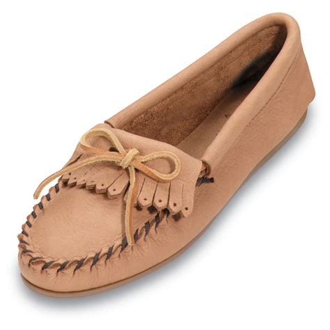 moccasins house shoes women s minnetonka 174 moccasin deerskin soft t moccasins 420989 slippers at