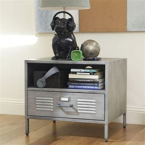 Locker Style Nightstand by Galvanized Metal Furniture For A Room
