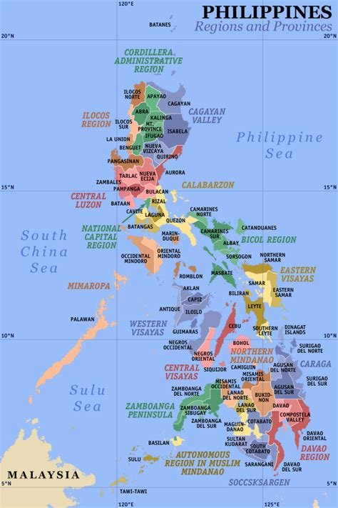 philippine map about philippines islands of the philippines