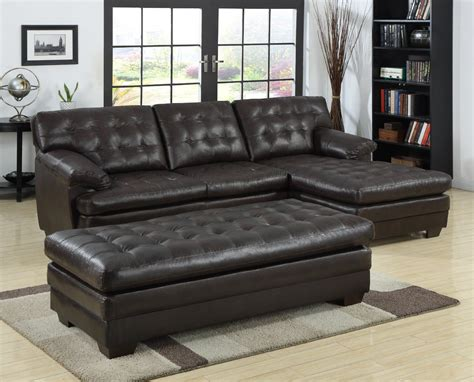 bench seats for living room black tufted leather sectional sofa with chaise and bench