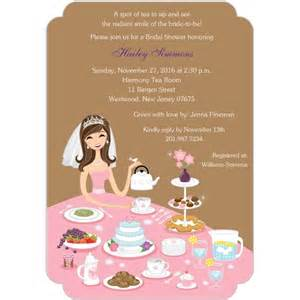 tea party bridal shower invitations templates