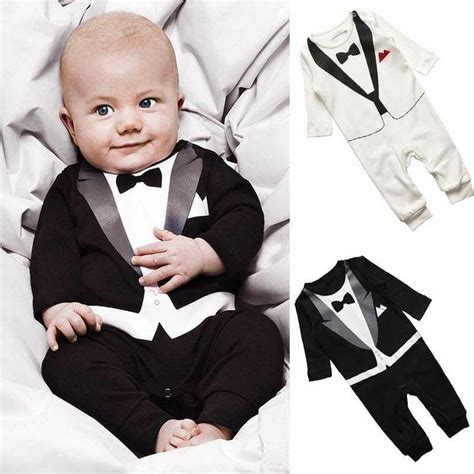 white tuxedo suit for a 1 year old cutest ring bearer ever with black and white tuxedo