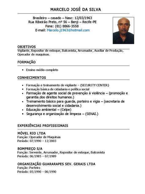 Modelo De Curriculum Vitae Para Operador De Maquinaria Pesada modelo curriculo