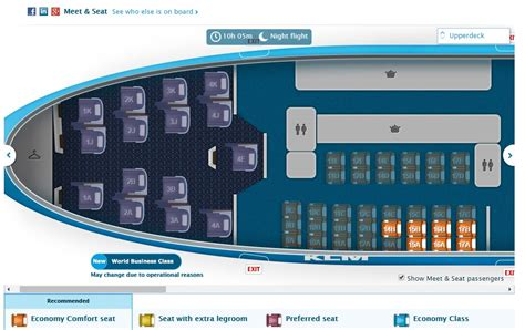 Klm Economy Comfort Worth It by Selecting A Proper Seat In The Economy Comfort Zone For