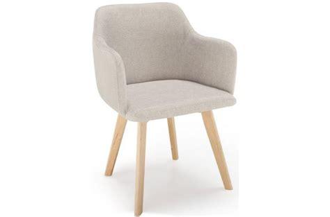 chaise scandinave tissu beige crush design pas cher sur