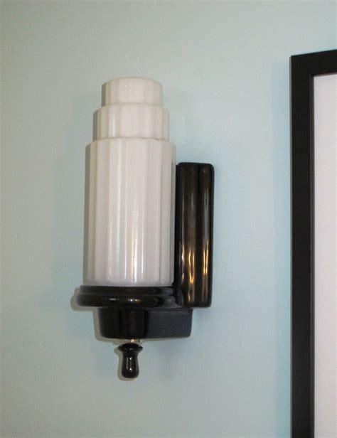 art deco bathroom sconces finishing touches art deco lighting big dig reno