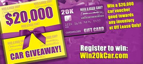 Giveaway Auto Sales - offleaseonly 20k car voucher giveaway happening now offleaseonly used cars for sale