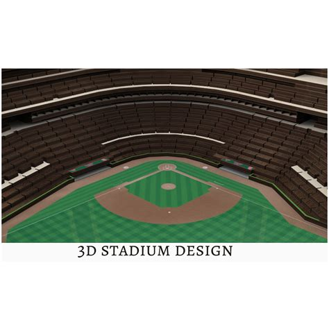 Mlb Stadium View 3d Wall