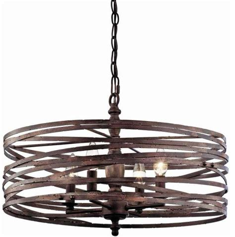 Wine Barrel Chandelier Lighting Pasco 4 Light Cage Chandelier Modern Chandeliers By