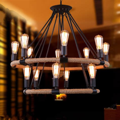 Restaurant Chandelier Nordic Ikea Retro Industrial Iron Chandelier Led Chandelier Living Room Restaurant Bar Cafe