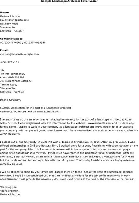 sle acting cover letter architecture cover letter sle cover letter for award