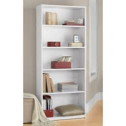 Instructions For Mainstays 3 Shelf Bookcase Mainstays 5 Shelf Bookcase White Walmart Com