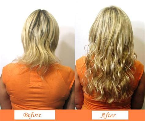 micro bead hair extensions on hair before and after micro bead hair extensions tiara hairdressing salon
