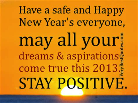 happy new year everyone quotes stay positive 2013