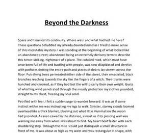 Gcse Essay Writing by Beyond The Darkness Descriptive Writing Creepy Horror Gcse Marked By Teachers