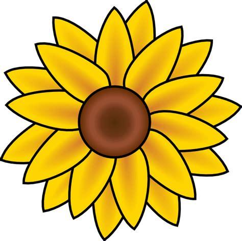 sunflower template sunflower clip at clker vector clip