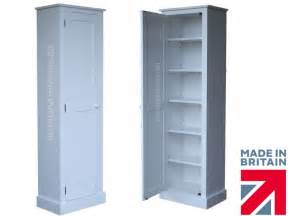 solid wood cupboard white painted bathroom linen pantry