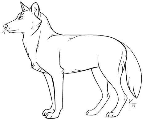 wolf template by kaylink on deviantart