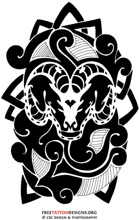 tribal ram tattoos 35 aries tattoos ram designs