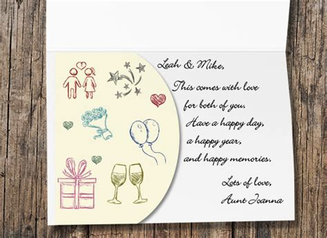 Wedding Gift Sayings On Cards - gift card quotes quotesgram