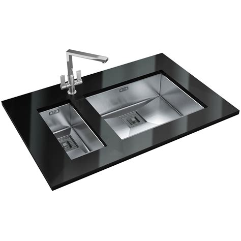 franke stainless steel sinks undermount franke peak pkx 110 55 stainless steel 1 0 bowl undermount