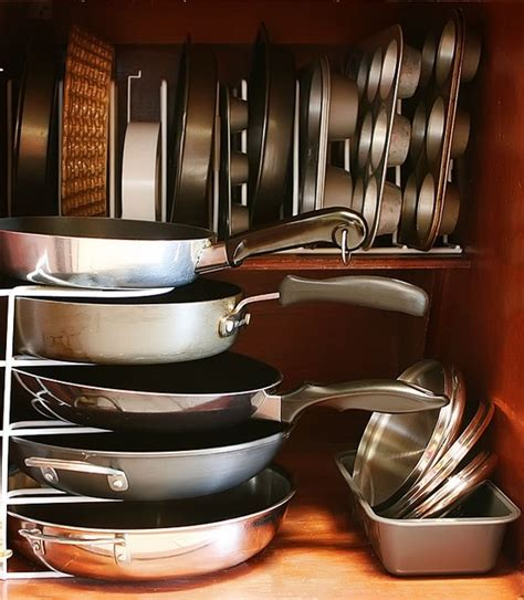 Ideas For Organizing Kitchen Cabinets by 58 Cool Kitchen Pots And Lids Storage Ideas Digsdigs