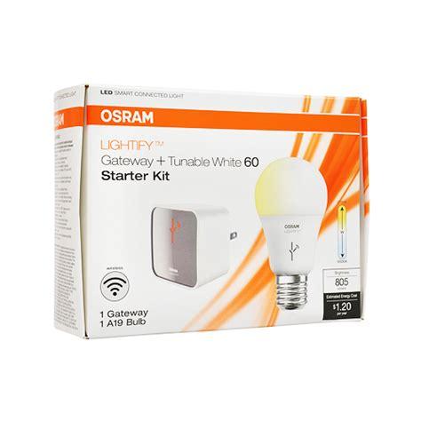 sylvania lightify by osram smart home starter kit smart