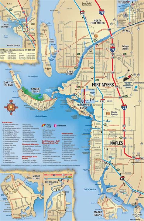 map of southwest florida southwest florida map attractions and things to do coupons discounts and deals ft myers ft