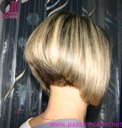 pic of back of shaved aline ahaircuts short stacked aline bob with short nape bowlcuts bobs