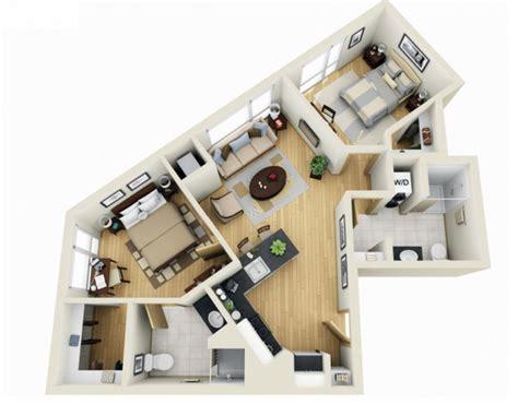 dise 241 o de plano de apartamento peque 241 o de un dormitorio 28 planos de departamentos dos dormitorios