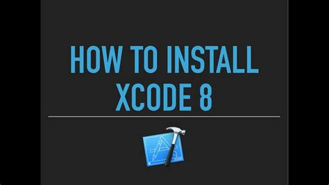 tutorial xcode 7 español xcode 8 tutorial how to download install xcode on mac