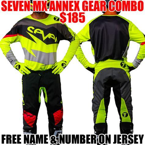 seven motocross gear 2018 seven annex ignite gear combo flo yellow pro style mx
