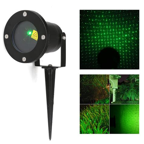 Waterproof Outdoor Xmas Lights Green Laser Projector Light Outdoor Projector Light