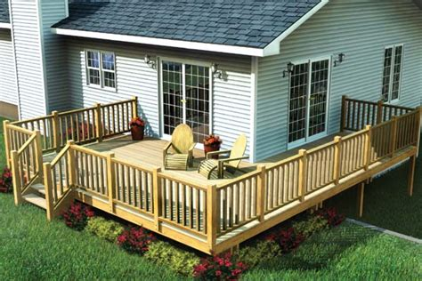 Easy To Build House Plans project plan 90014 easy corner deck