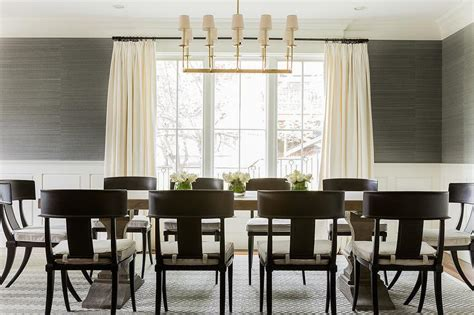 Grasscloth Dining Room by Dining Room With Grasscloth And Wainscoting Transitional